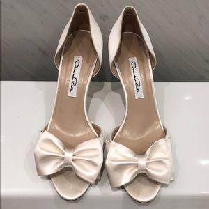 Oscar de la rente bridal shoes